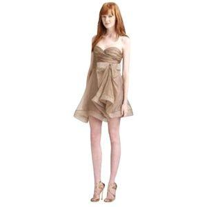 NEW ABS By Allen Schwartz Strapless Organza Dress